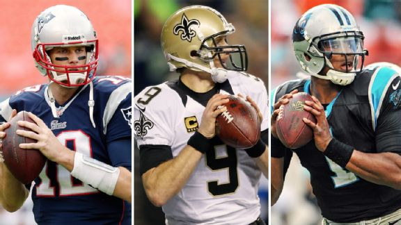 Tom Brady, Drew Brees, Cam Newton