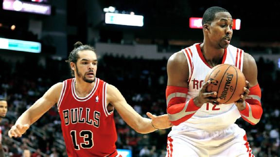 Joah Noah and Dwight Howard