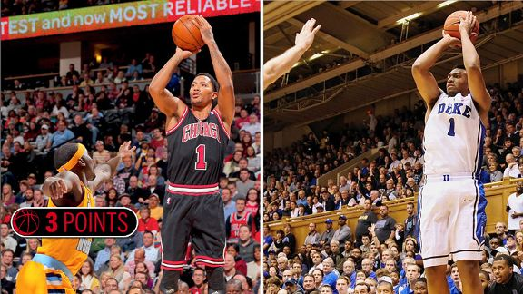 Derrick Rose and Jabari Parker