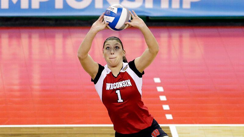 Wisconsin's Lauren Carlini was selected the Big Ten Freshman of the Year.