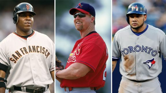 Melky Cabrera, Barry Bonds, Mark McGwire