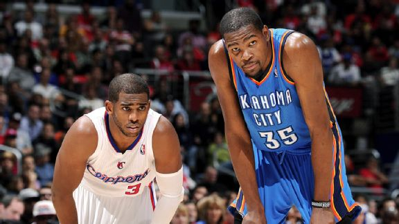 Chris Paul and Kevin Durant