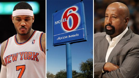 Carmelo Anthony, Mike Woodson, Motel 6