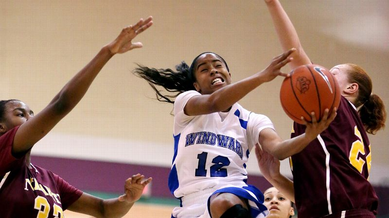 Jordin Canada, a UCLA signee and the No. 6 prospect in the 2014 class, and No. 9 Windward (Los Angeles) were stopped in the Blue Division final by Nazareth (N.Y.). (Photo: Chris Coduto/Icon SMI)