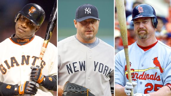 Barry Bonds, Roger Clemens and Mark McGwire
