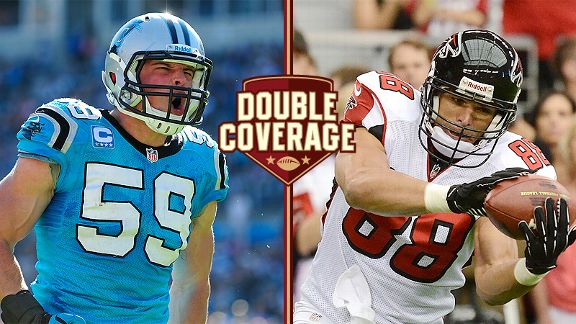 Luke Kuechly and Tony Gonzalez