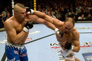 Chuck Liddell and Randy Couture