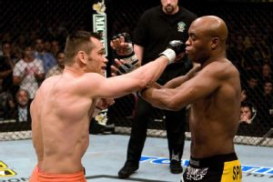 Anderson Silva and Rich Franklin
