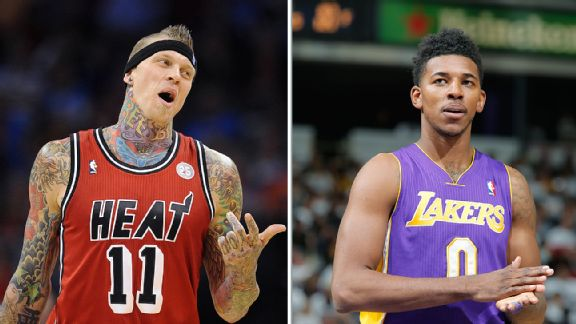 Chris Andersen and Nick Young