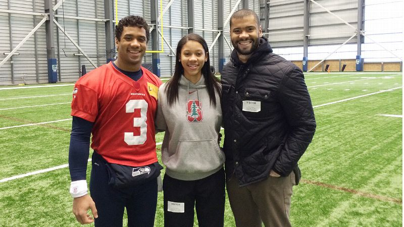Anna Wilson and Russell Wilson
