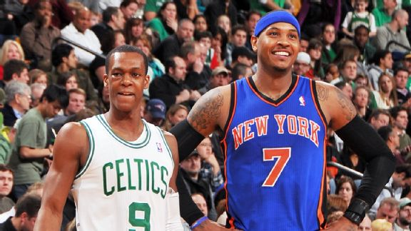 Rajon Rondo and Carmelo Anthony