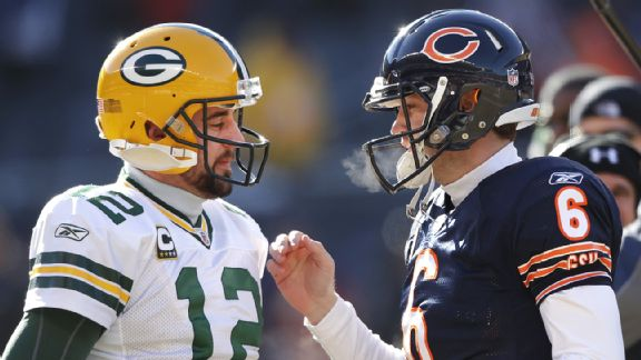 Aaron Rodgers and Jay Cutler