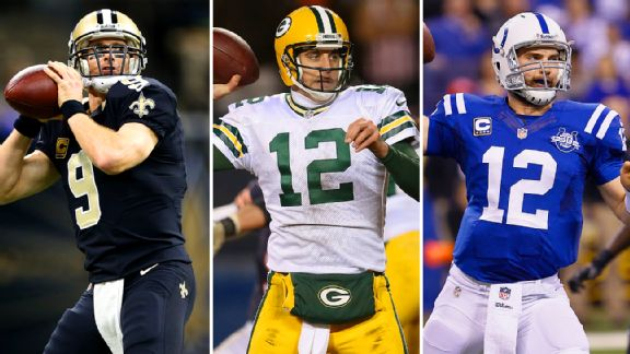 Drew Brees, Aaron Rodgers and Andrew Luck are all elite NFL QBs. Are they worth a No. 1 pick?