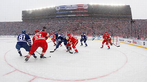 The Toronto Maple Leafs and the Detroit Red Wings