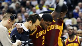 Kyrie Irving of Cleveland Cavaliers has left knee contusion