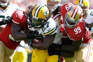 Green Bay's Eddie Lacy against the San Francisco 49ers