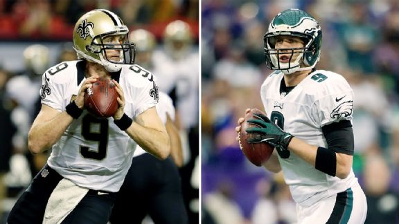Drew Brees, Nick Foles