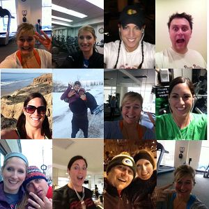 Sarah Spain and her friends post selfies as evidence that theyve done their required workouts.