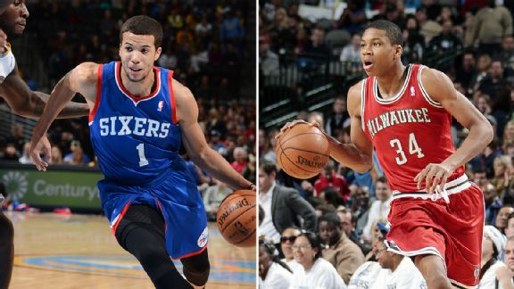 Michael Carter-Williams and Giannis Antetokounmpo