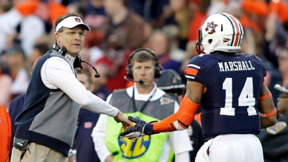 Gus Malzahn and Nick Marshall