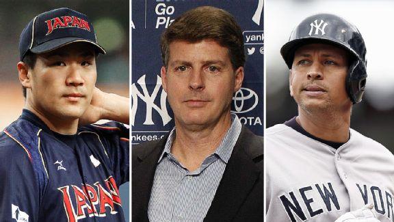 Masahiro Tanaka, Hal Steinbrenner, and Alex Rodriguez