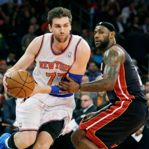 Andrea Bargnani, LeBron James