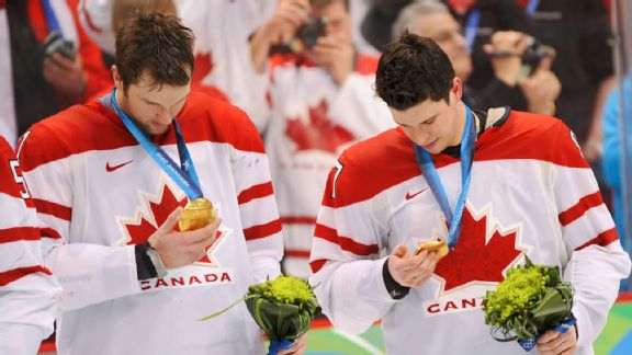 Rick Nash and Sidney Crosby