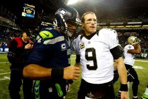 Russell Wilson, Drew Brees