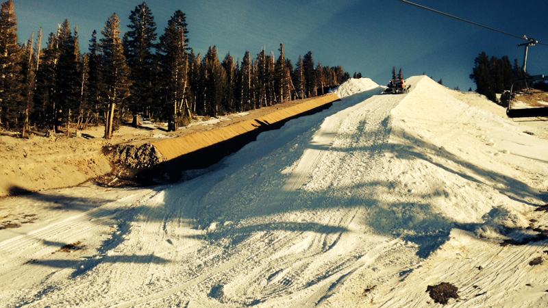 The final stops of the U.S. Grand Prix Olympic qualifiers have struggled with the weather, including a low snow year in California. Pictured is the Mammoth halfpipe on Jan. 6.