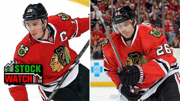 Jonathan Toews and Michal Handzus