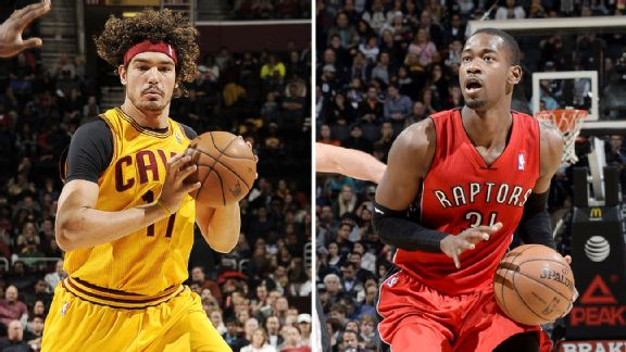 Anderson Varejao and Terrence Ross