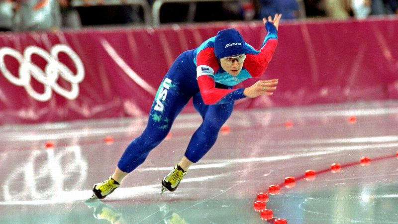 The six-time speedskating medalist is one of the most decorated athletes in Olympic history. Competing in the 1988 Calgary, 1992 Albertville and 1994 Lillehammer Games, Blair dominated the 500-meter and 1,000-meter events, taking home an astounding five golds and one bronze. Blair won a slew of honors for her achievements, including Sports Illustrateds Sportsman of the Year and the Associated Press Female Athlete of the Year in 1994. She retired from the sport in 1995 and has since been inducted into the United States Olympic Hall of Fame. The 49-year old married fellow speedskater Dave Cruikshank in 1996 and they have two children. Blair works as a motivational speaker and sometime speedskating coach. (Photo: Thomas Kienzle/AP)