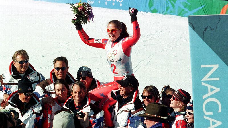The beloved American skier, best known for her gold medal in the Super G at the 1998 Nagano Olympics and her unique name, led the U.S. delegation on the slopes in the 1994, 1998 and 2002 Winter Games. Her silver-medal performance in the downhill at Lillehammer catapulted her into stardom and she became one of the most recognizable skiers in the world. She retired after the Salt Lake City Olympics and since has appeared on a variety of television shows, including a second-place finish on the short-lived Stars Earn Stripes competition series in 2012. Street now lives in Alabama with her husband and three sons. (Photo: Rudi Blaha/AP)
