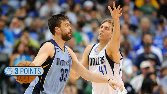 Marc Gasol and Dirk Nowitzki