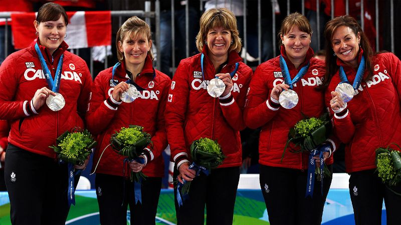 While curling often becomes a crowd favorite during the Olympics, Canadas Kristie Moore, far left, had additional eyes on her as she was five months' pregnant during the 2010 Vancouver Games. Just the third Olympic athlete in history to compete while expecting, Moore helped lift her team to a silver medal and created a firestorm of scrutiny and praise for participation. While she didnt qualify for the 2014 Olympics, Moore still participates in competitive curling and her team won the 2013 Alberta Scotties Tournament of Hearts. She lives in Alberta with her husband and their three children. (Photo: Alex Livesey/Getty Images)