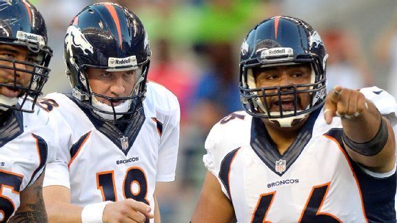 Manning and center Manny Ramirez have helped lead the Broncos to the AFC Championship Game against New England on Sunday.