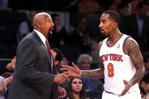 Mike Woodson and J.R. Smith