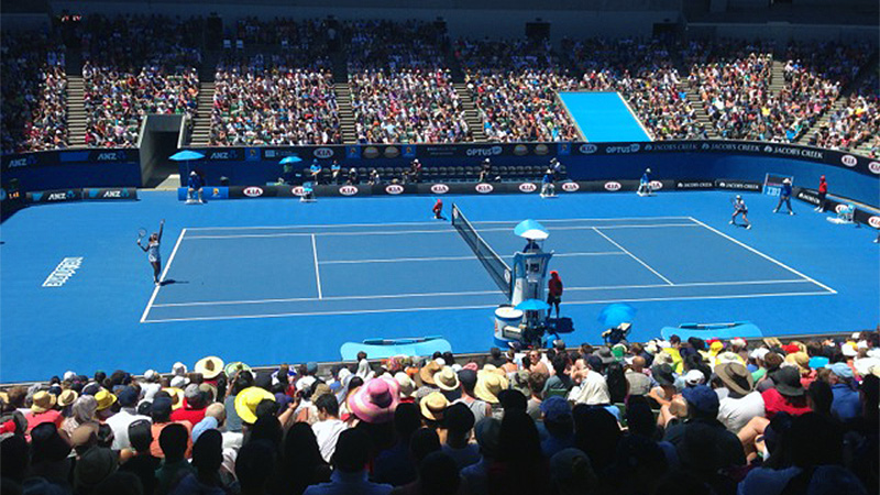 Kayla Pedersen and her teammates soaked in the atmosphere of the Australian Open.