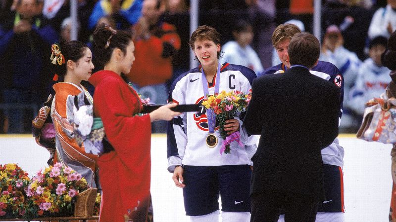 The captain of the U.S. hockey team during the sports first year as an Olympic event for women, Cammi Granato led the team to a gold medal in 1998. Sister of NHL player Tony Granato, she became one of the most recognizable faces on the ice after scoring the teams first goal in Nagano. Granato also helped the U.S. take home the silver medal in Salt Lake City in 2002. She was cut from the national team before the 2006 Games but remains the teams all-time leading scorer with 186 goals. She became the first female inductee into the United States Hockey Hall of Fame in 2008 and one of the first two female inductees into the Hockey Hall of Fame in 2010. She now lives in Vancouver with her husband, former NHL player Ray Ferraro, and their children. Today, Granato runs the Golden Dreams for Children Foundation and hosts a hockey camp for young girls. (Photo: Bruce Bennett Studios/Getty Images)