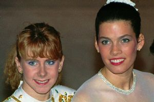 Tonya Harding and and Nancy Kerrigan