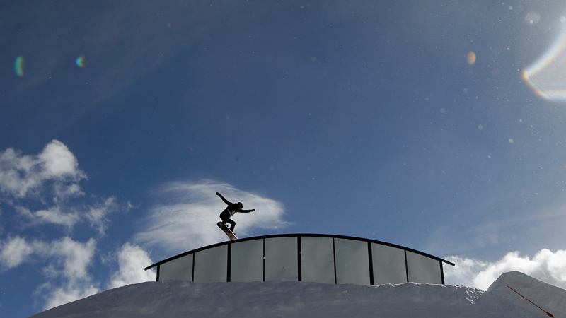 Shaun White, seen here at the first U.S. Olympic team qualifier in Breckenridge, Colo., is skipping X Games Aspen to save up for Sochi. He qualified for the U.S. slopestyle team on Thursday.