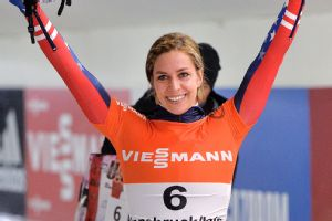 Noelle Pikus-Pace is looking to lock up a skeleton medal in Sochi.