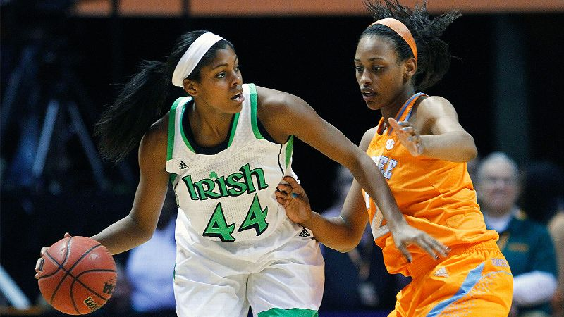 Notre Dame's Ariel Braker and Tennessee's Jasmine Jones will face off again tonight in Knoxville.