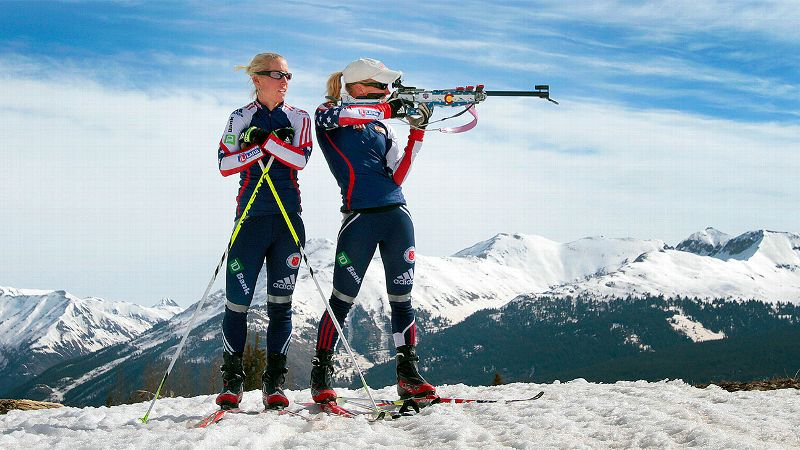 Tracy Barnes, left, gave up her Olympic spot to twin sister Lanny after the latter couldn't compete in a qualifying event.