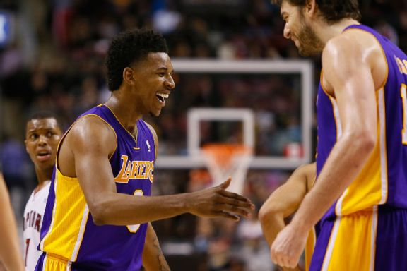 Pau Gasol and Nick Young