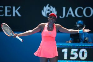 Sloane Stephens had just two break-point chances and committed 32 unforced errors against Victoria Azarenka.
