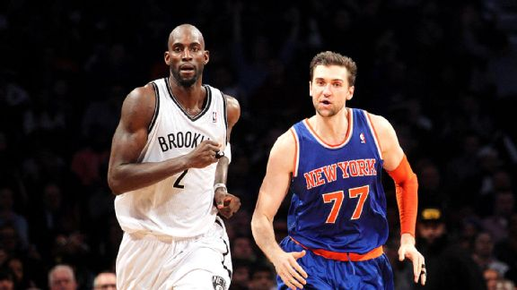 Kevin Garnett and Andrea Bargnani