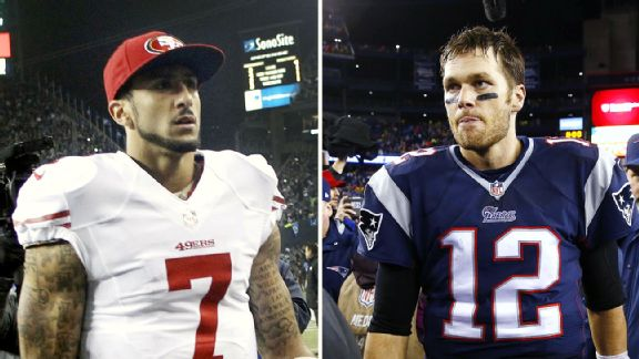 Colin Kaepernick and Tom Brady