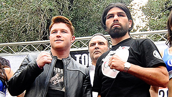 Canelo Alvarez will face Alfredo Angulo, his first fight since his lopsided loss against Floyd Mayweather.
