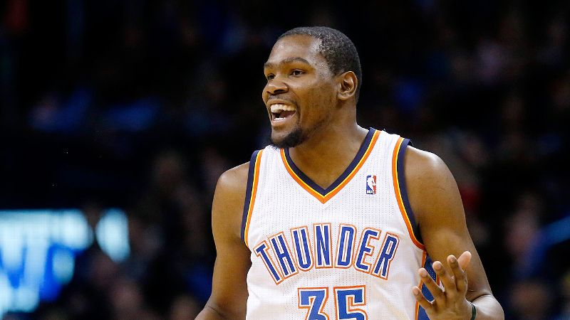 Kevin Durant put on his happy face during his 46-point game on Tuesday night against Portland.